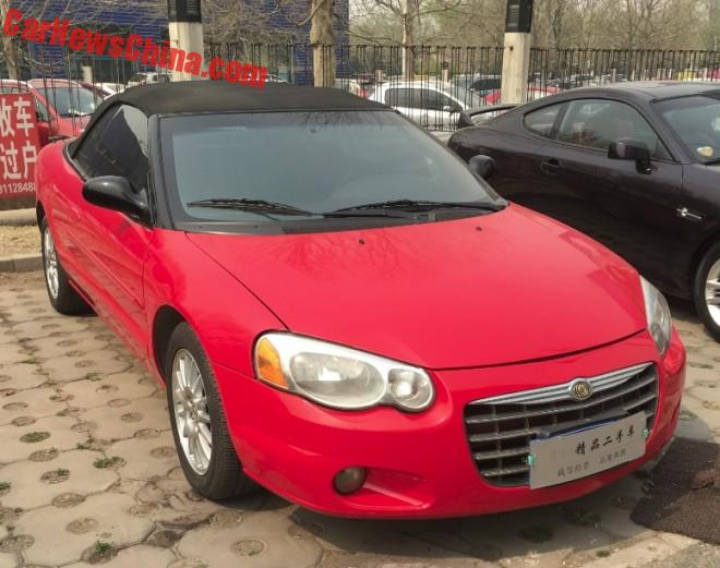 Spotted in China: Chrysler Sebring Convertible in Red