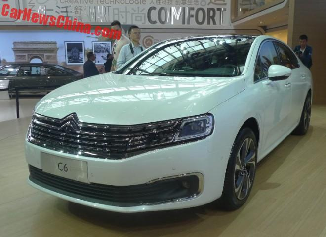 Citroen C6 launched on the Beijing Auto Show