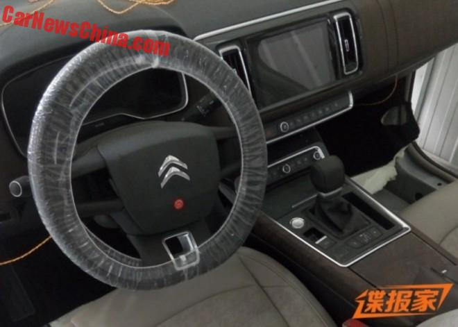 Spy Shots: the Interior of the Citroen C6 for China