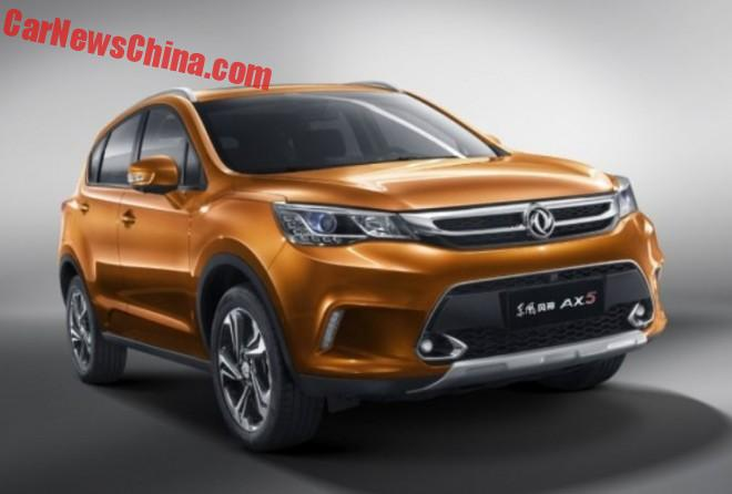 This is the new Dongfeng Fengshen AX5 SUV for China