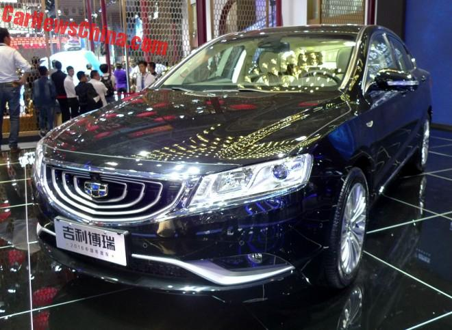Geely Borui Individual Unveiled On The Beijing Auto Show