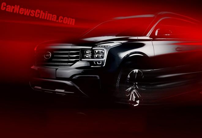 Guangzhou Auto teases the Trumpchi GS8 SUV for the Beijing Auto Show