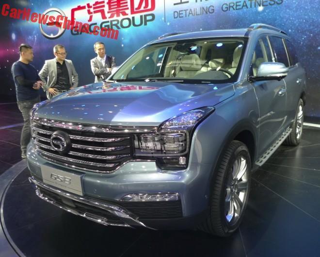 Guangzhou Auto Trumpchi GS8 SUV debuts on the Beijing Auto Show