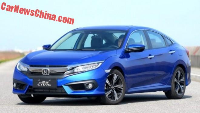 New Honda Civic launched on the Chinese auto market
