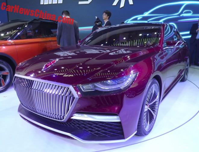 Hongqi B-Concept launched on the Beijing Auto Show in China