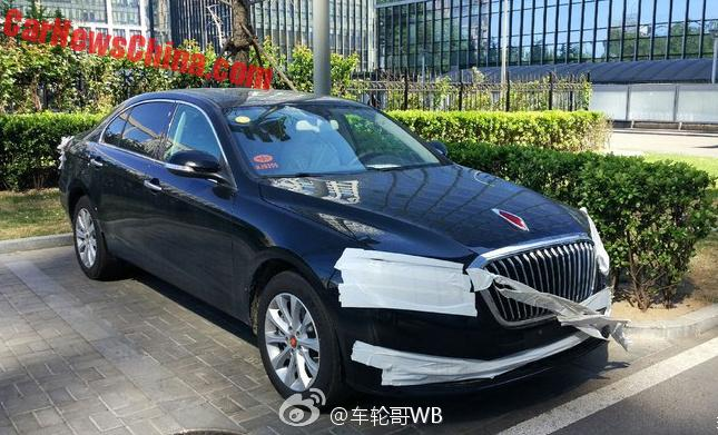 Spy Shots: facelift for the Hongqi H7 in China