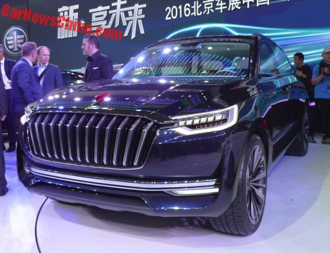 Hongqi S-Concept SUV launched on the Beijing Auto Show