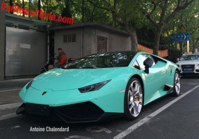 Spotted in China: Lamborghini Huracan in Tiffany Blue