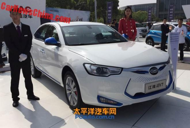 This is the new JAC iEV7 electric sedan for China