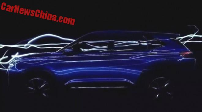 JAC teases the SC5 concept for the Beijing Auto Show