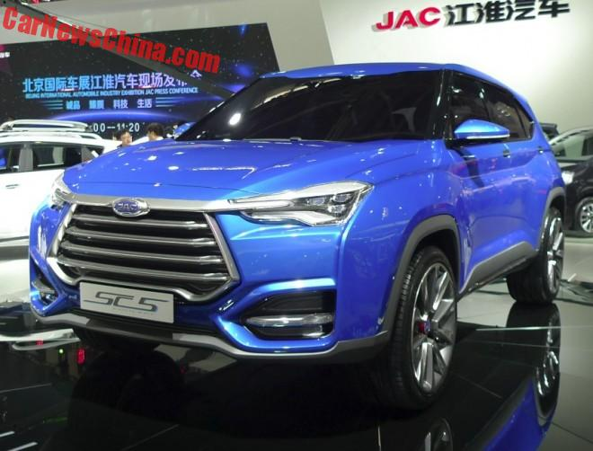 JAC SC-5 SUV concept hits the Beijing Auto Show