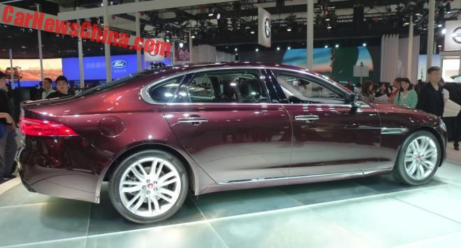 Jaguar XFL launched on the Beijing Auto Show