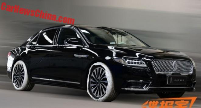 Spy Shots: the 2017 Lincoln Continental is Naked in China