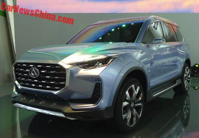 Shanghai Maxus D90 concept SUV launched on the Beijing Auto Show