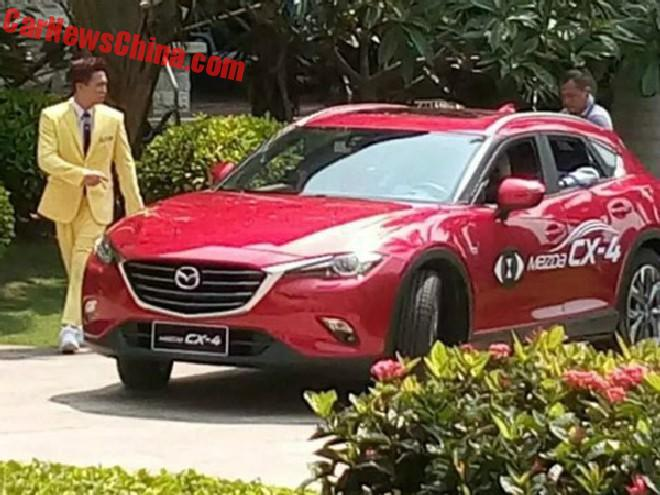 Spy Shots: Mazda CX-4 is Completely Naked in China