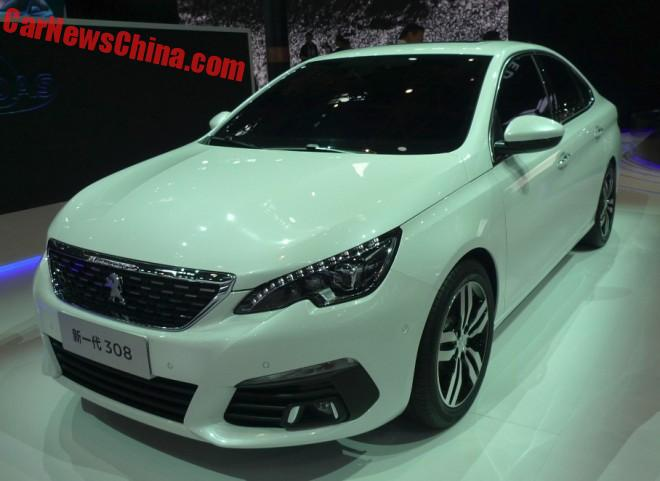 Peugeot 308 sedan hits the Beijing Auto Show in China