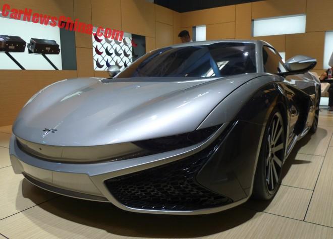 Qiantu Motor K50 EV Supercar hits the Beijing Auto Show