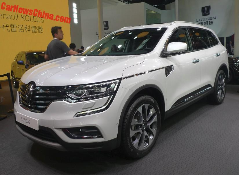 new renault koleos suv launched on the beijing auto show. Black Bedroom Furniture Sets. Home Design Ideas