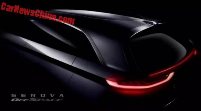 Beijing Auto Senova teases the OffSpace Concept for the Beijing Auto Show