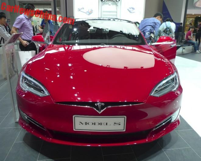 Facelifted Tesla Model S electrifies the Beijing Auto Show in China
