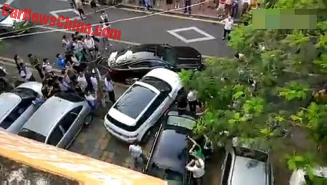 Chinese Woman Bumps A Jaguar Out Of Her Way