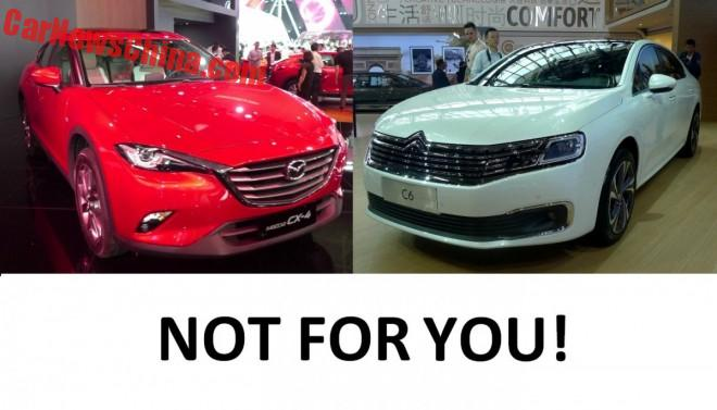 Ten New Cars For China That You Cannot Get