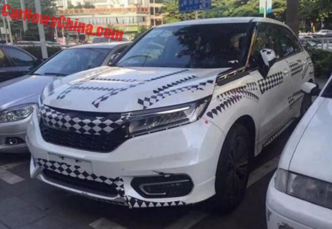 Spy Shots: Honda Avancier Testing In China