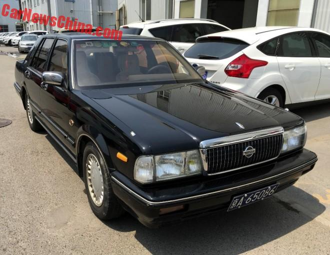 Spotted in China: Nissan Cedric Brougham VIP V6 in Black