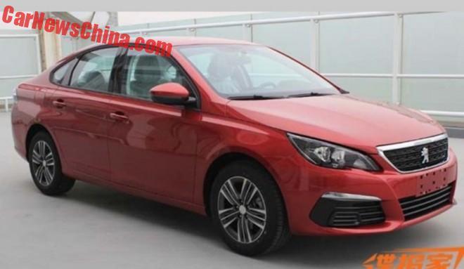 Spy Shots: New Peugeot 308 Sedan for China
