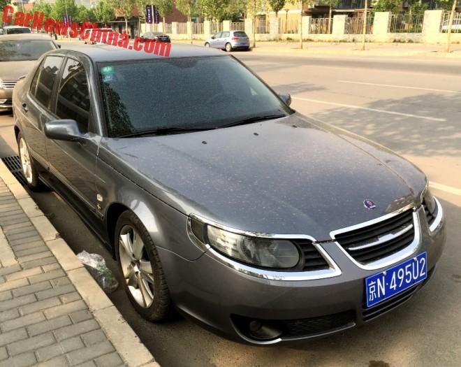 Spotted In China: Saab 9-5 Aero Sedan