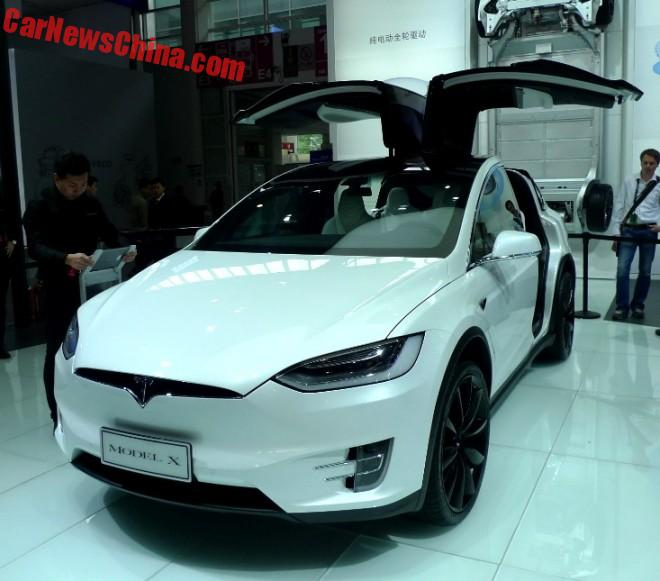 Tesla Model X Launched On The Chinese Car Market