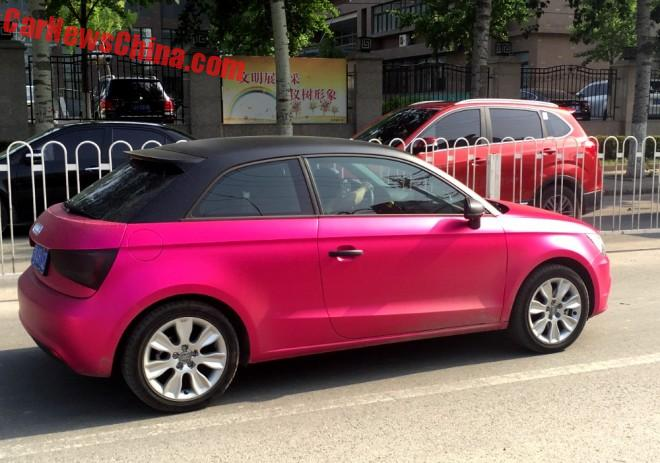 Audi A1 Is Pink In China