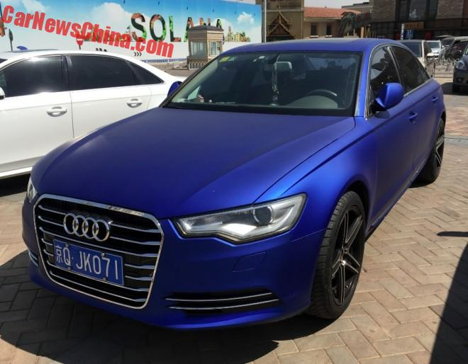 Audi A6L Is Matte Blue In China