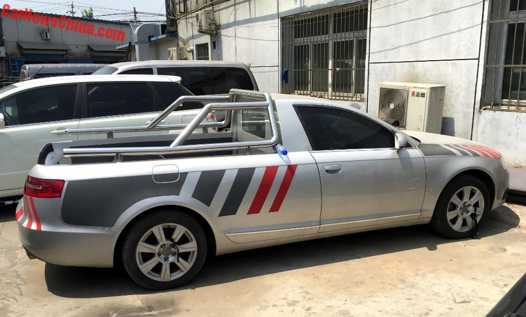 spotted in china audi a6l pickup truck. Black Bedroom Furniture Sets. Home Design Ideas