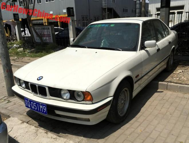 Spotted In China: E34 BMW 535i In White
