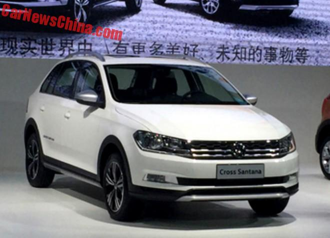 This Is The Volkswagen Cross Santana For China
