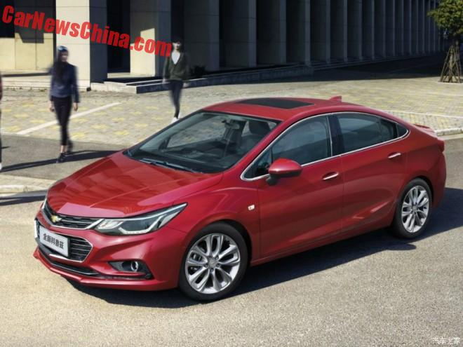 Facelift For The Chevrolet Cruze In China