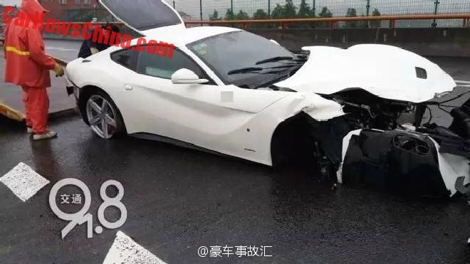 Ferrari F12berlinetta Crashes In China