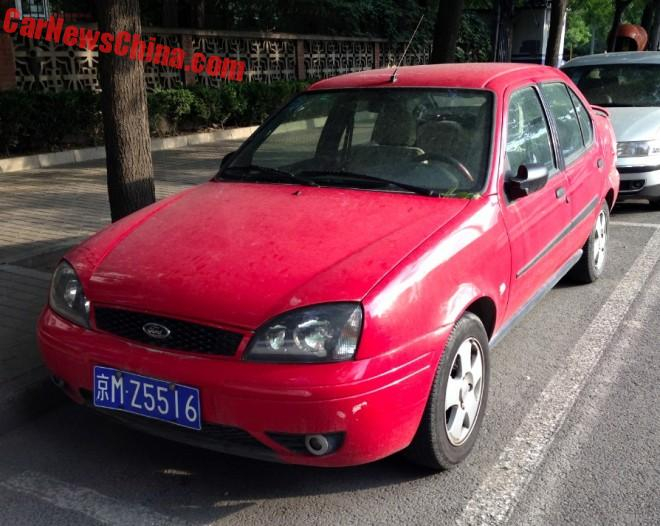 Spotted In China: Fourth Generation Ford Fiesta S sedan