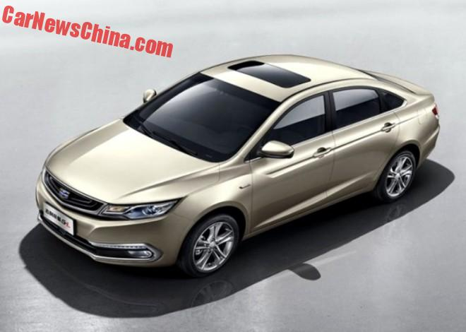 This Is The Geely Emgrand GL Sedan For China