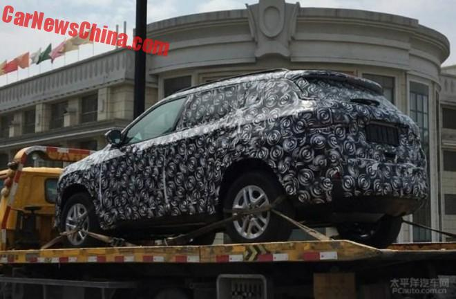 Spy Shots: New Jeep Compass/Patriot On A Truck In China
