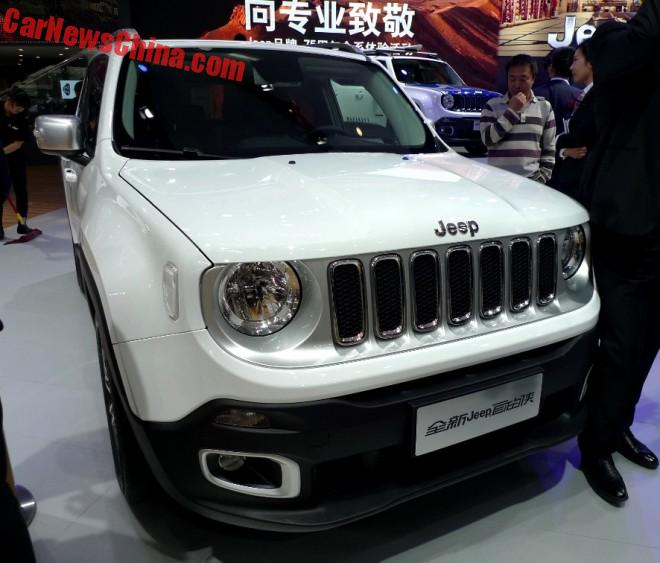 Locally Made Jeep Renegade Launched In China