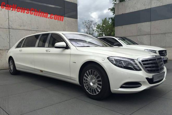 First Mercedes-Maybach S600 Pullman Arrives In China