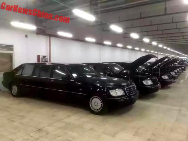 Shangai Sells 8 W140 Mercedes-Benz Pullman Limousines