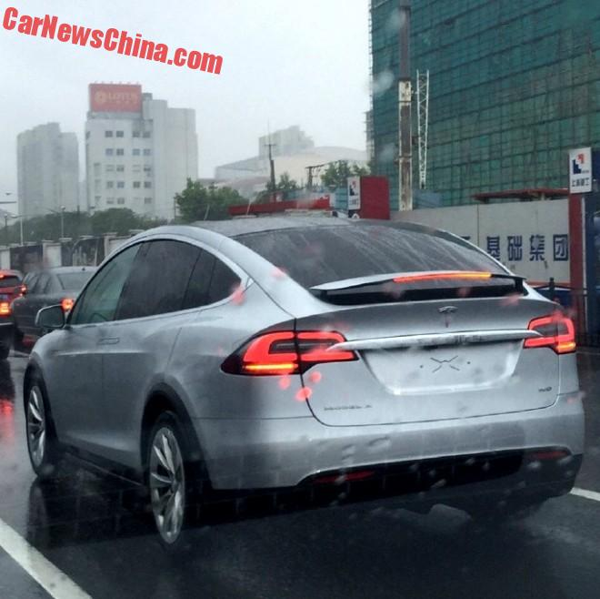 First Tesla Model X On The Road In China