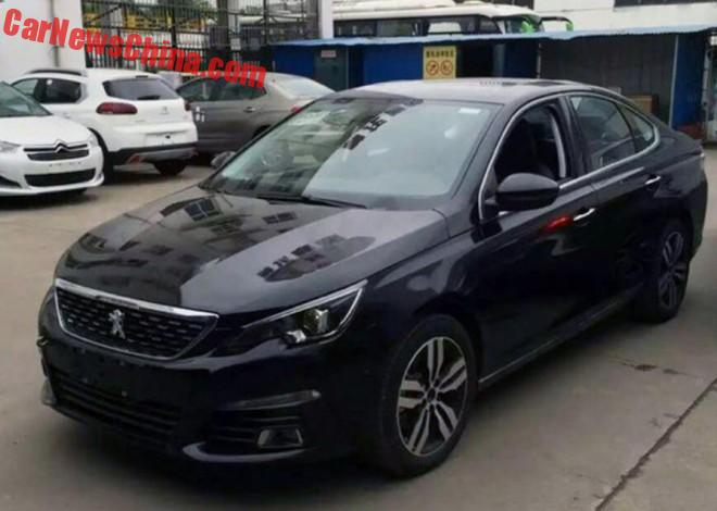 New Spy Shots Of The Peugeot 308 Sedan For China