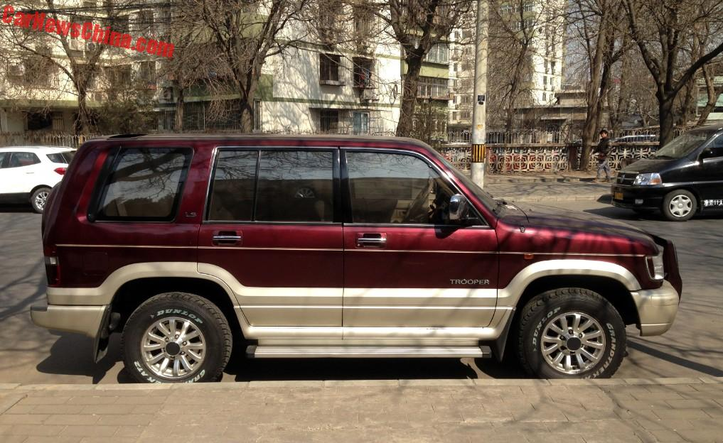 Spotted In China A Perfect Isuzu Trooper Carnewschina