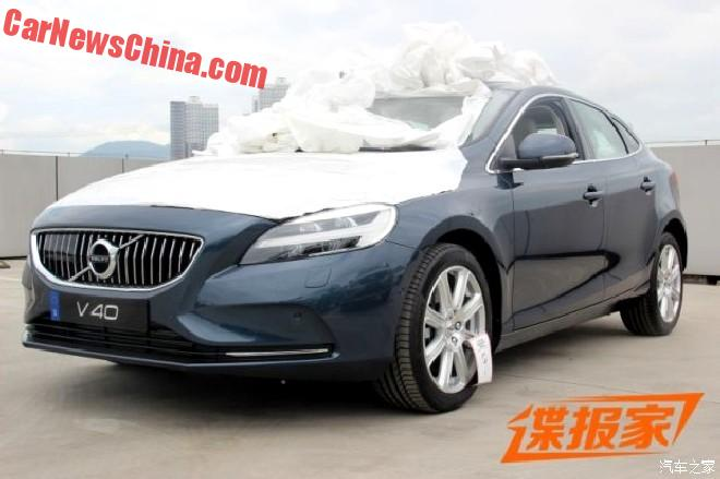 Facelifted Volvo V40 Pops Up In China