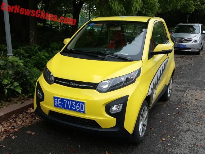 A Hip Little Zotye Zhima E30 EV In China
