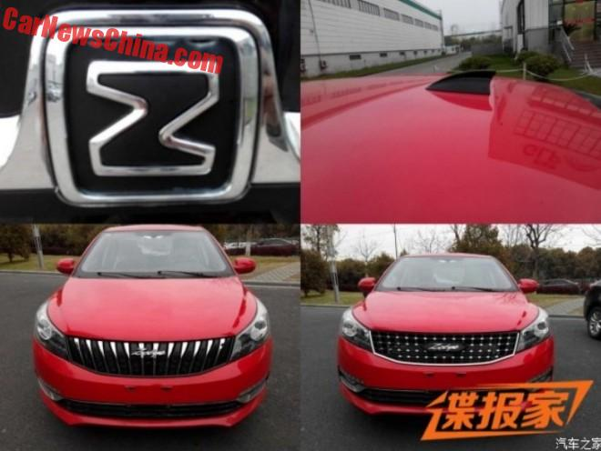 Spy Shots: Facelift For The Zotye Z500 Sedan In China